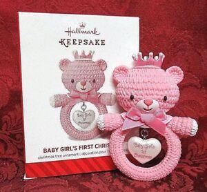 HALLMARK 2014 ORNAMENT~BABY GIRL'S FIRST CHRISTMAS | eBay