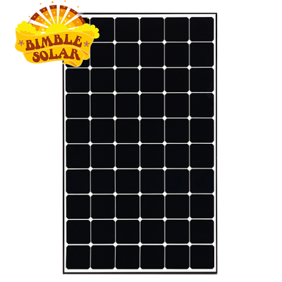 Made in 250W Bisol Used Solar Panel *NEEDS MC4s See description* Black Frame