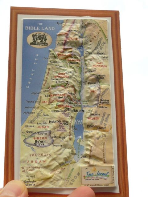 3d Holy Land Bible Map Magnet Biblical 12 Tribes of Israel Old Testament