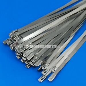 20-x-Stainless-Steel-Ties-Clamp-Ideal-For-Exhaust-Heat-Insulation-Wrap-300mm