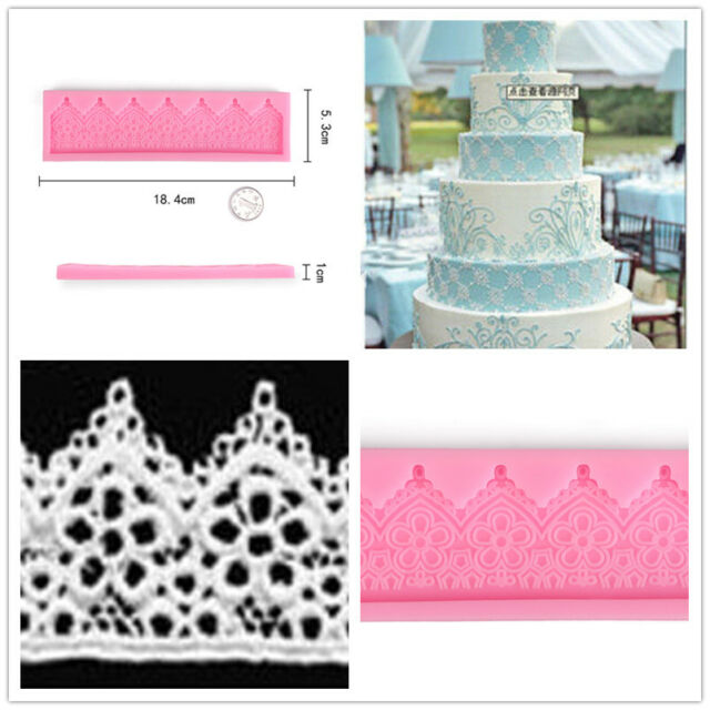Lace Flower Fondant Mold Silicone Mould Cake Suger Texture Baking Decor Tools