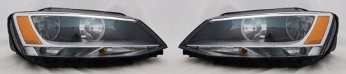 Right and Left Replacement Headlight PAIR For 2011-2014 Volkswagen Jetta Sedan