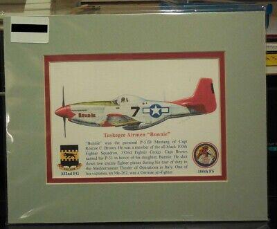 "Tuskegee Airmen Roscoe Brown/'s /""Bunnie/"" Giclee /& Iris Art Prints by Willie Jones"