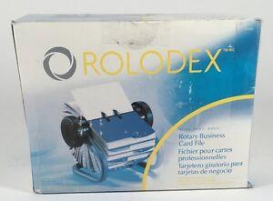 Rolodex metal rotary business card file blue 63299 693829261853 ebay image is loading rolodex metal rotary business card file blue 63299 colourmoves
