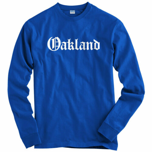 Oakland Gothic Long Sleeve T-shirt Men Youth LS Bay Area Cali Raiders Weed