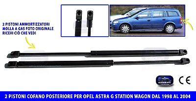COPPIA MOLLE A GAS OP ASTRA G SW DAL 1998 AL 2003 COFANO BAULE POSTERIORE 2 PEZZI