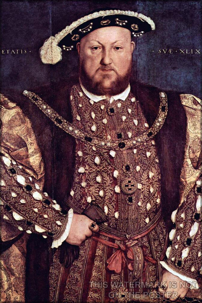 Plakat, Viele Größen; King Henry VIII Hans Holbein The
