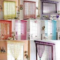 Heart Style Line String Door Curtain Tassel Window Room Curtain Divider Scarf Q