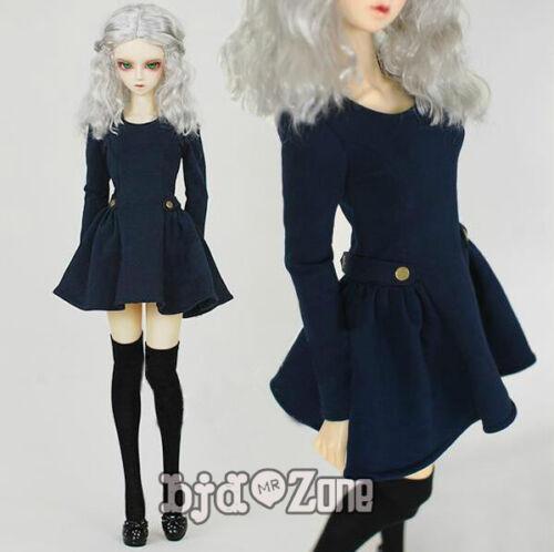 NEW Cool Fashion Blue Military Uniform Style Dress 1//3 BJD SD Doll Clothes