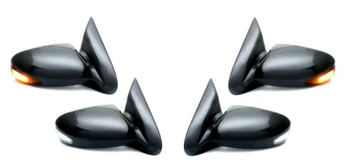 Side Mirror Black Sportage PAIR w//LED Signal FOR 1997-2001 Ford F150 F250 F350
