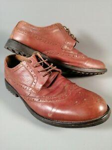 Clarks-Extra-Legeres-Derby-Richelieu-a-Hommes-Marron-Chaussures-Cuir-Taille-UK-11-EUR-46