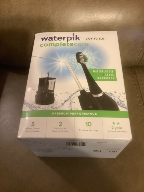 WATERPIK SONIC 5.0 BLACK WATERFLOSSER + SONIC TOOTHBRUSH (NEW)