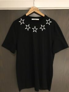 de48e0fad60c79 Image is loading Givenchy-Black-Star-T-shirt-Size-XL-Cuban-