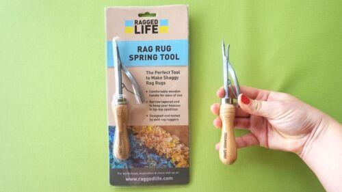The Easiest Tool to Make Rag Rugs Quality Rag Rug Spring Tool Bodger