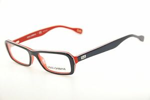 9b07823c9a New Authentic Dolce  amp  Gabbana DD 1225 1872 Blue Red 52mm Frames ...