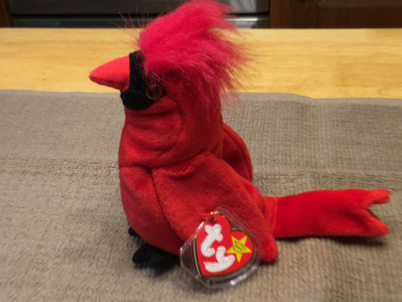 Ty Beanie Babies Retired Mac Red Bird Cardinal 1998 WOW WOW WOW PRICED REDUCED  b237e0