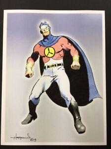 LOOK-UP-IT-039-S-SKYMAN-Golden-Age-Superhero-Art-SIGNED-Print-by-Mike-Hoffman