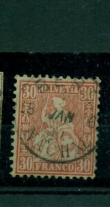 Svizzera-sede-fine-Helvetia-n-25-timbrato