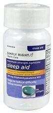 Simply Right - Sleep Aid 50mg Diphenhydramine 96 Softgels EXP 06/2018