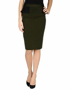 371dd942508611 Image is loading GIVENCHY-GREEN-PEPLUM-BACK-PENCIL-SKIRT-SMALL