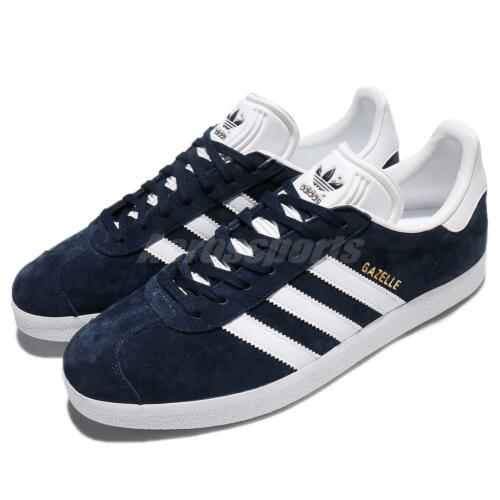 adidas Originals Gazelle Navy White Nubuck Classic Mens Shoes Sneakers BB5478