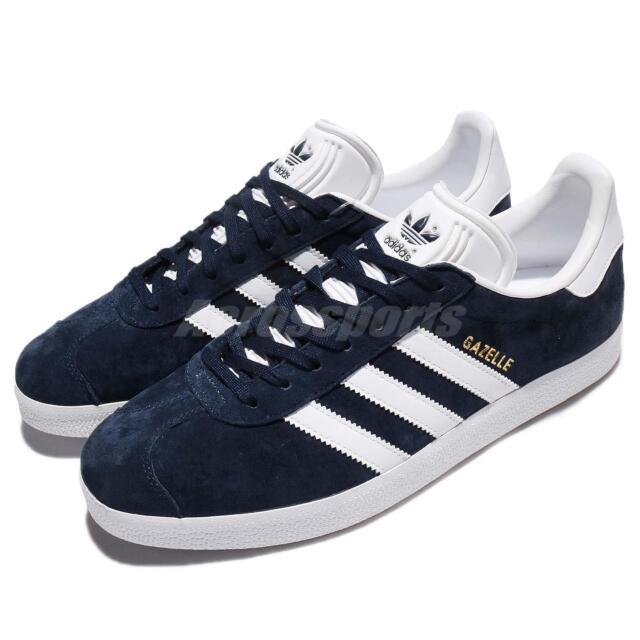 adidas Originals Gazelle Navy White Nubuck Classic Mens Shoes Sneakers  BB5478 170437e4e7a9