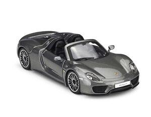 Bburago-1-24-Porsche-918-Spyder-Racing-Car-Vehicle-Diecast-Model-New-in-Box