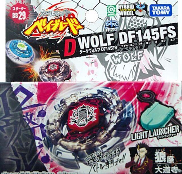 Takara Dark Wolf Df145fs Metal Fusion 4d Beyblade Custom Bb 29 Ebay