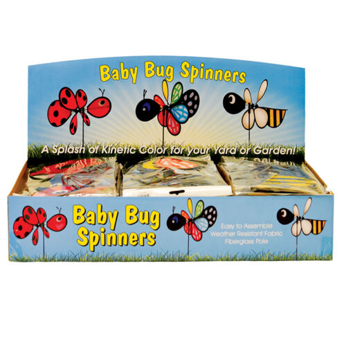 """Ground Decor Bee Baby Spinner 12/"""" W x 23/"""" H x 17/"""" D In the Breeze ITB-2801"""