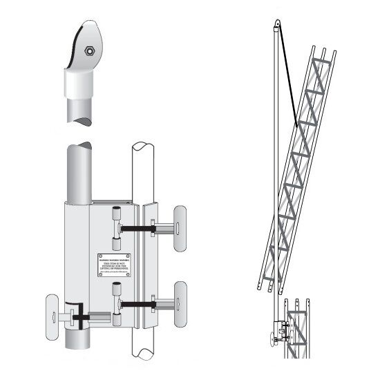 New ROHN EF2545 Tower Erection Fixture System Gin Pole Assembly for 25G 45G Tower.