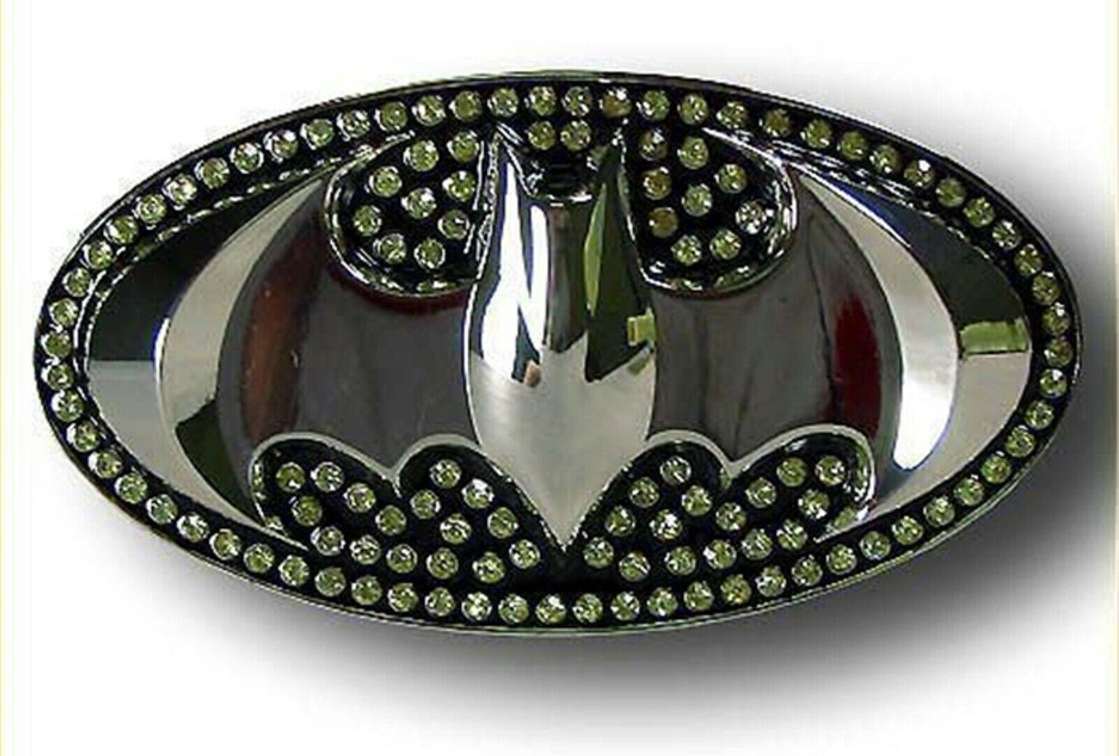 Batman 3D Gürtelschnalle Halloween Kostüm Bling Strass Neu DC Comics Logo Herren