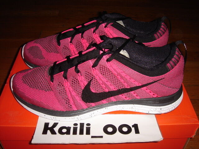 Nike Flyknit One+ Sz 11.5 PINK Air Max Volt 554887-600 South Beach Multi Color B