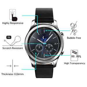 2-Pack-Tempered-Glass-Screen-Protector-For-Samsung-Gear-S3-Frontier-Classic