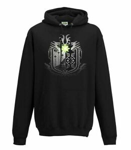 Monster Hunter Mundo Crest Gamer Con Capucha Sudadera