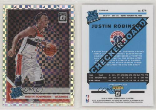 2019 Donruss Optic Rated Rookies Checkerboard Prizm Justin Robinson #174 Rookie