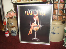 Superb Razzle Dazzle Martini Poster Print-Framed-Large Size-Sexy Pinup Girl-LQQK
