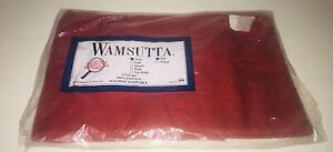 WAMSUTTA-Vintage-Flat-Sheet-in-Red-TWIN-SIZE
