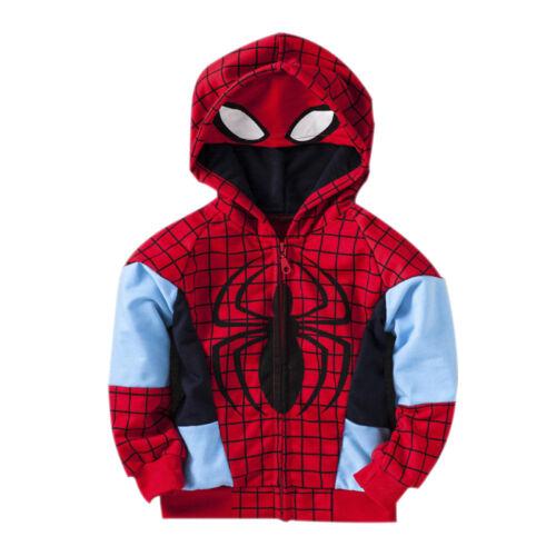 Kids Boys Spiderman Tracksuit Set Hoodie Sweatshirt Tops Pants Sweatpants Outfit