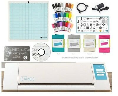The NEW  Silhouette CAMEO V2 Digital Cutting Machine + Starter Pen & Cover