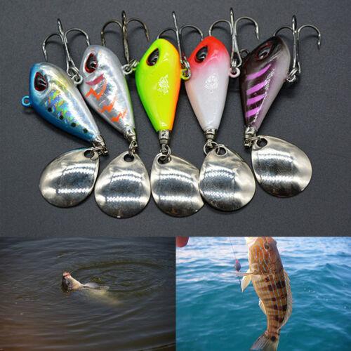 Metal Fishing Lure Fishing Tackle Pin Crankbait Vibration Spinner Sinking Bai PQ