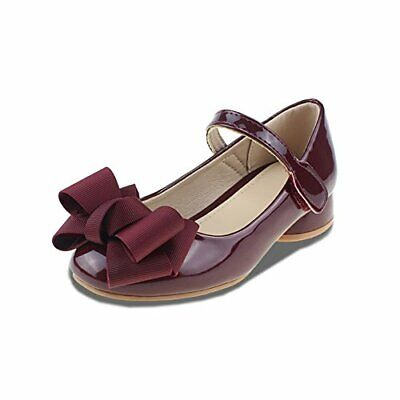 Toddler//Little Kid//Big Kid Girls Mary Jane Flat Shoes Bowknot Easy Strap