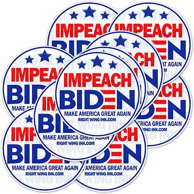 """Impeach Biden Bumper Sticker No Joe Pro Trump Bumper Sticker 2 PACK  9/"""" wide"""