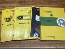 John Deere Tractor 4200 4600 5210 4 Operators Manual Lot In Spanish