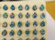 Firey Cabochon Natural Australian Opal Triplet QTY2 , Pear 6mm x 8mm Mosaic Opal