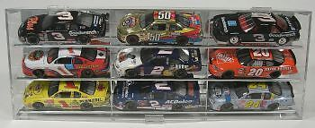 Display Case 1 24 Model Car 9 Car Display Angled  Made in USA New in Box
