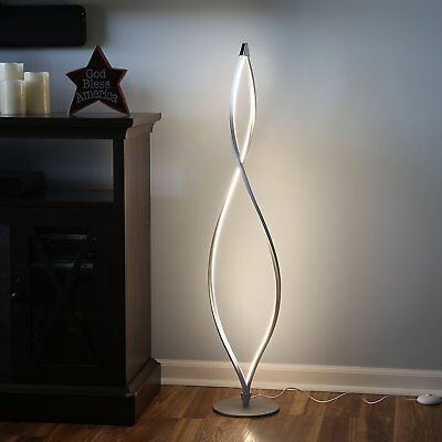 Modern Led Floor Lamp Unique Twisted