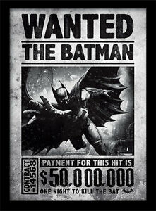 Batman-Arkham-Origins-Wanted-Framed-30-x-40-Official-Print