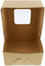 New Listingspecialt Easy Popup Brown Bakery Boxes With Window 3 Inch Tall 6x6 Inch Cake