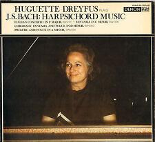 "HUGUETTE DREYFUS, BACH ""HARPSICHORD MUSIC"" LP DENON OX-7083"