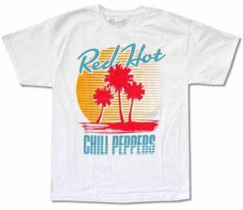 """RED HOT CHILI PEPPERS /""""BEACH/"""" IMAGE WHITE T-SHIRT NEW OFFICIAL RHCP"""
